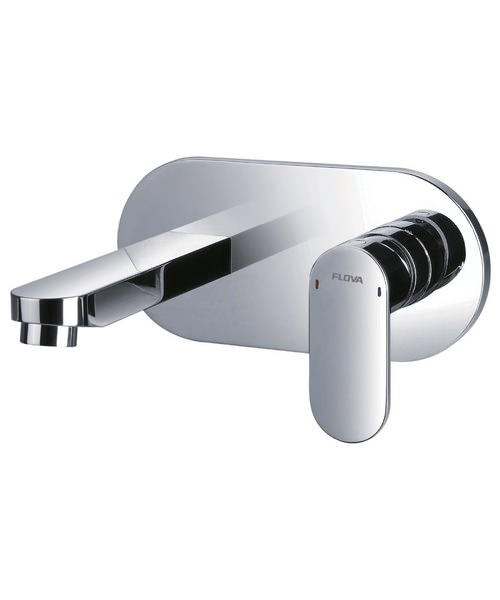 Flova Smart Wall Mounted Single Lever Basin Mixer Tap With Clicker Waste