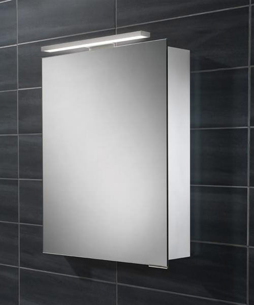 HIB Proton 500 x 700-730mm Single Door LED Overlight Mirror Cabinet