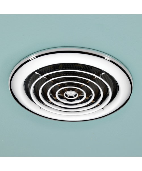 Hib Turbo Chrome Bathroom Inline Extractor Fan