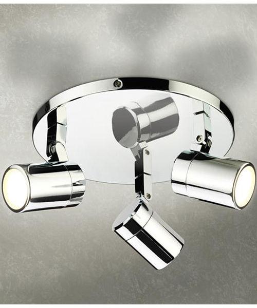 HIB Trilogy Chrome Three Multi-Angled LED Spotlights