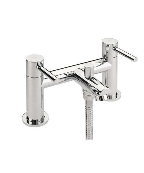 Tre Mercati Poppy Pillar Mounted Bath Shower Mixer Tap With Shower Kit
