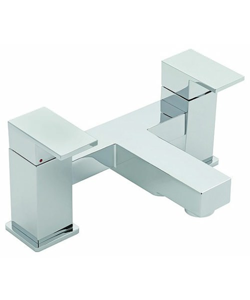 Tre Mercati Edge Pillar Mounted Bath Filler Tap Chrome