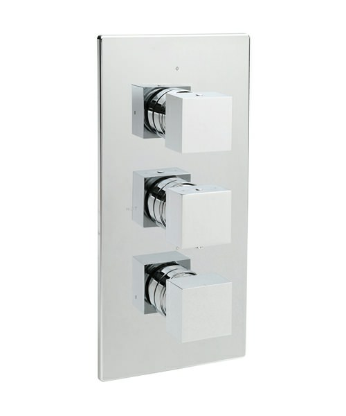Tre Mercati Edge Concealed Thermostatic Shower Valve With 3 Way Diverter