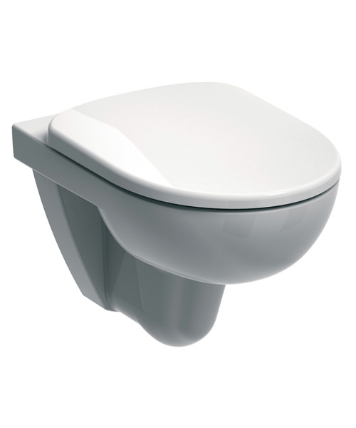 Twyford E100 Round 530mm Flushwise Wall Hung WC Pan