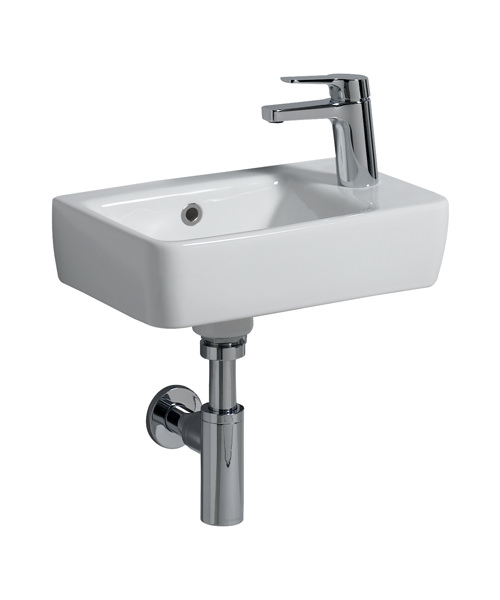 Twyford E200 Single Tap Hole 400 x 250mm Handrinse Washbasin