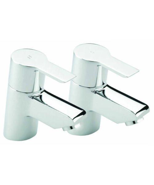 Tre Mercati Angle Pair Of Basin Tap Chrome