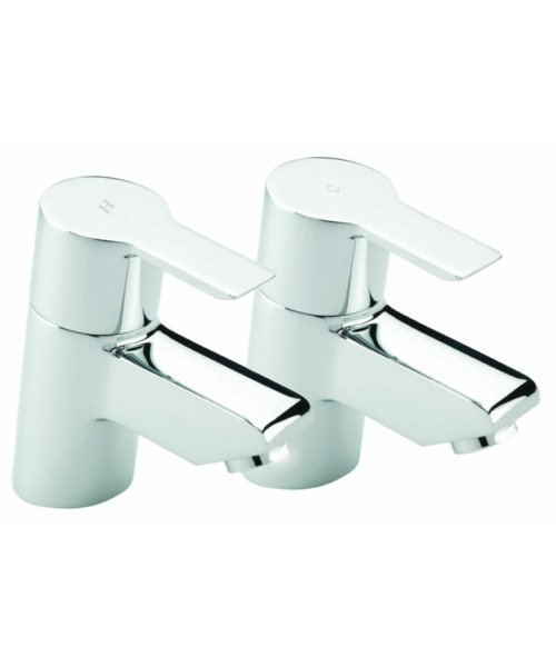 Tre Mercati Angle Pair Of Bath Tap Chrome