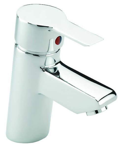 Tre Mercati Angle Mono Basin Mixer Tap With Click Clack Waste Chrome