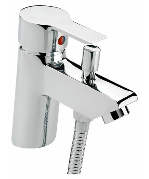 Tre Mercati Angle Mono Bath Shower Mixer Tap With Shower Kit