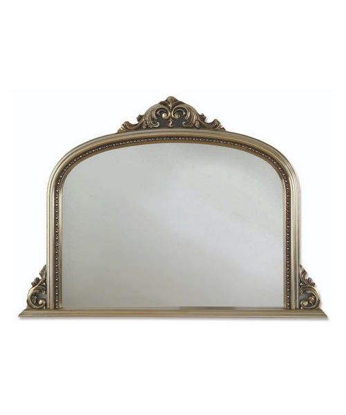 Heritage Archway 1270 x 910mm Champagne Silver Wooden Framed Mirror
