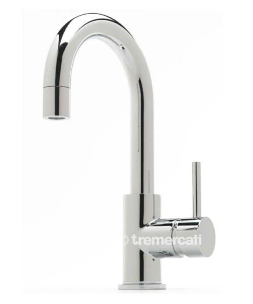 Tre Mercati Milan Side Lever Mono Basin Mixer Tap With Click Clack Waste