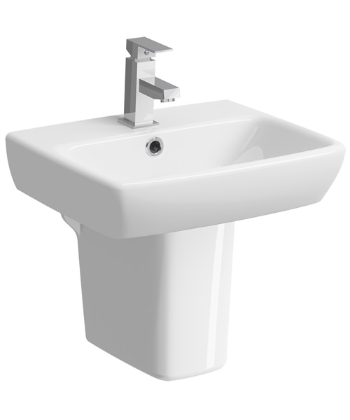 Additional image of Twyford E100 450 x 350mm Square Handrinse Washbasin