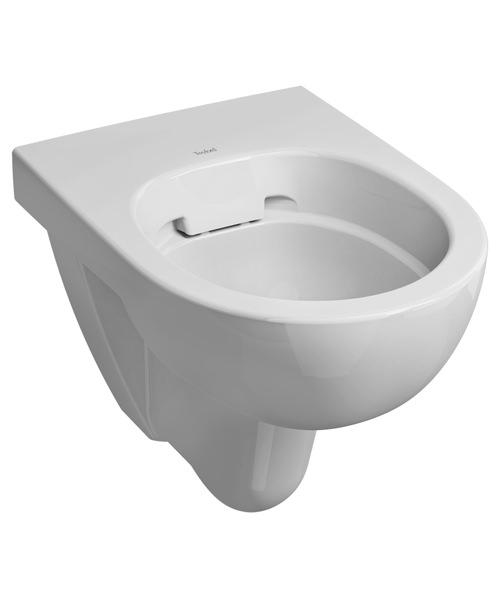 Twyford E100 Round 530mm Rimfree Flushwise WC Pan Wall Mounted