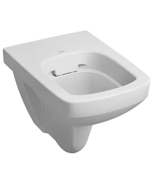 Twyford E100 Square 530mm Flushwise Wall Hung Rimfree WC Pan