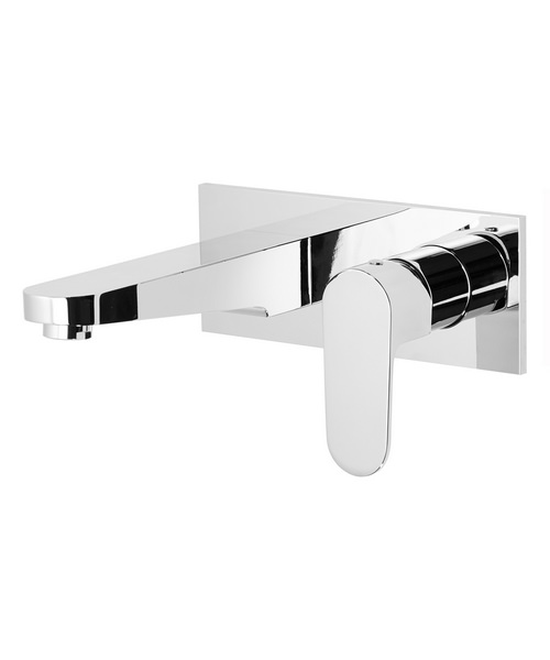 Roper rhodes image 200mm wall mounted basin mixer tap for 200mm kitchen wall unit