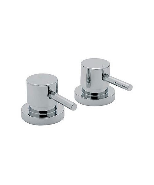 Tre Mercati Milan Pair Of 3/4 Inch Side Chrome Valves