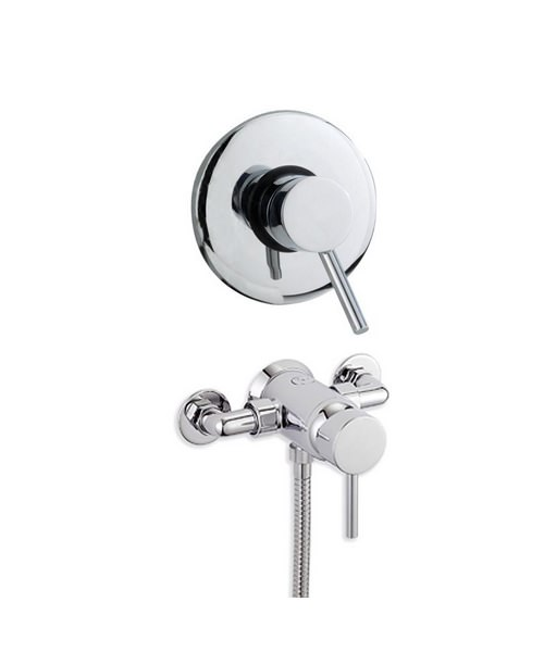 Tre Mercati Milan Exposed-Concealed Manual Shower Valve Chrome