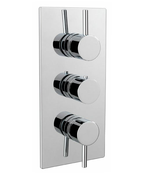 Tre Mercati Milan Concealed Thermostatic 3 Way Diverter Shower Valve