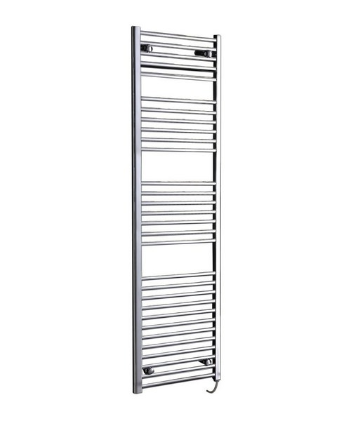 Phoenix Flavia 500 x 1800mm Straight Pre Filled Electric Radiator Chrome