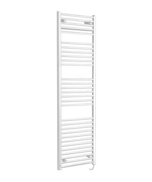 Phoenix Flavia Straight White 300 x 1500mm Pre Filled Electric Towel Rail