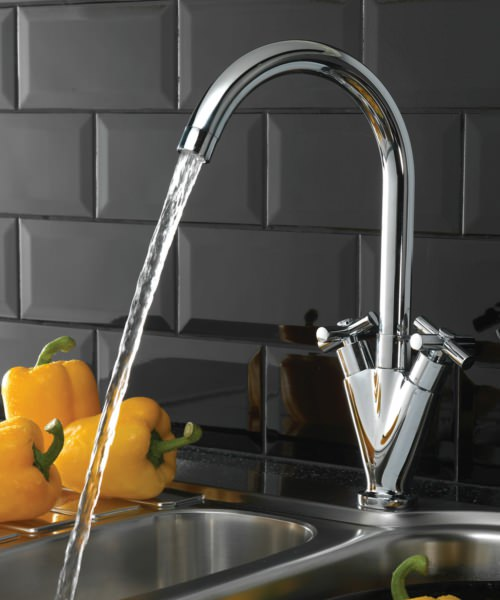 Tre Mercati Ulysses Kitchen Mono Sink Mixer Tap Chrome