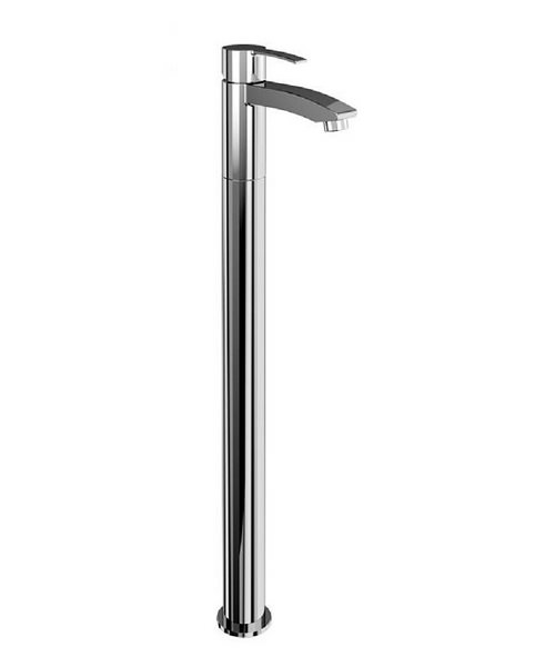 Britton Sapphire Single Lever Bath Filler Tap With Floor Mounting Leg
