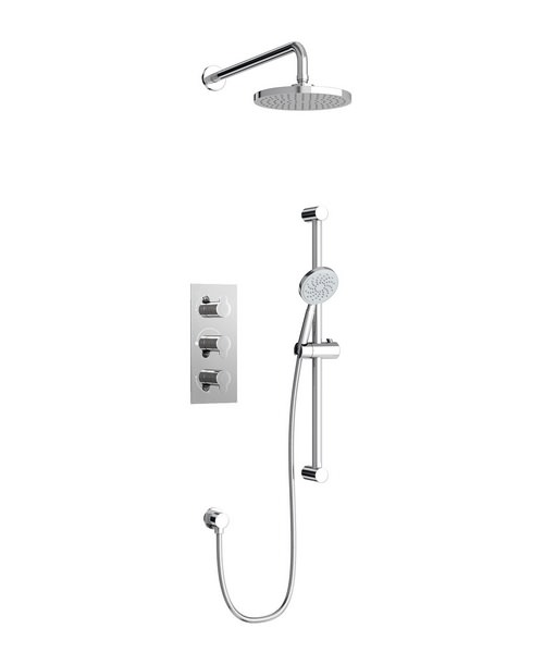 Britton Concealed Dual Outlet Thermostatic Shower Valve With Kit