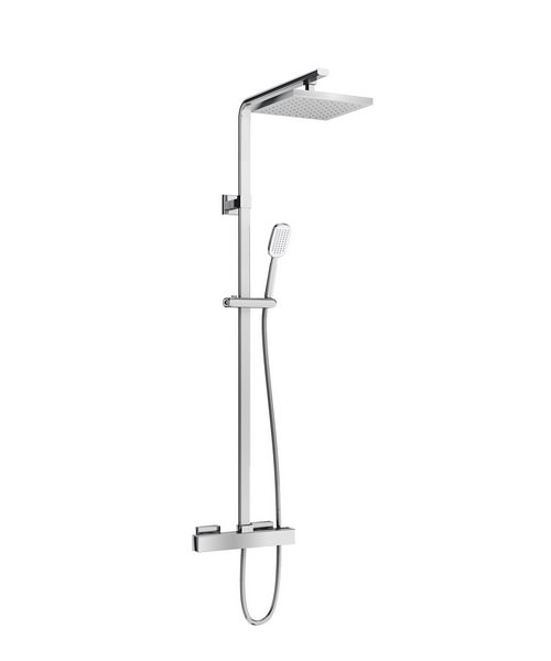 Britton Square Exposed Thermostatic Shower Valve With Kit