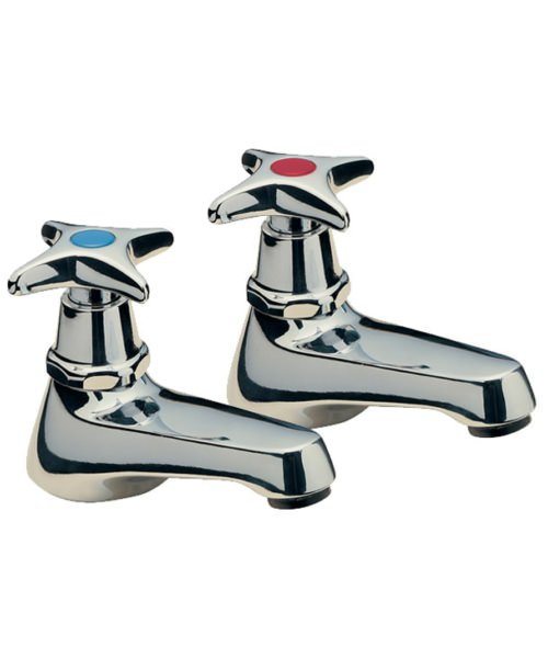 Tre Mercati Capri Crosshead Pair Of Basin Taps