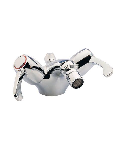 Tre Mercati Capri Lever Chrome Mono Bidet Mixer With 3 Inch Lever And Waste