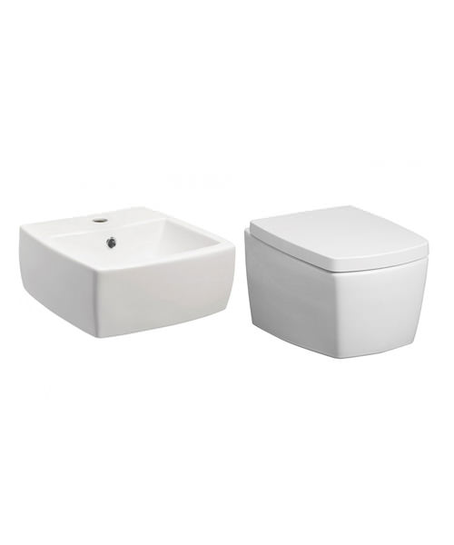 Bauhaus Touch White Cloakroom Suite