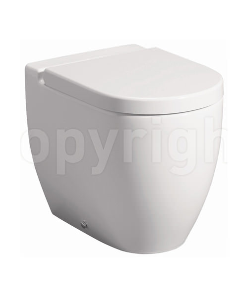 Bauhaus Stream II 510mm Back To Wall WC Pan And Soft Close Seat