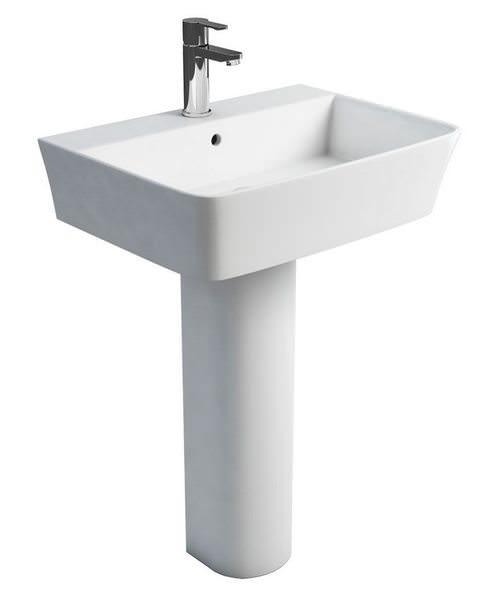 Britton Fine S40 Wash Basin 60cm With Round Full Pedestal