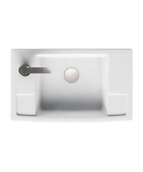 Britton Deep Cloakroom Washbasin - Left Handed
