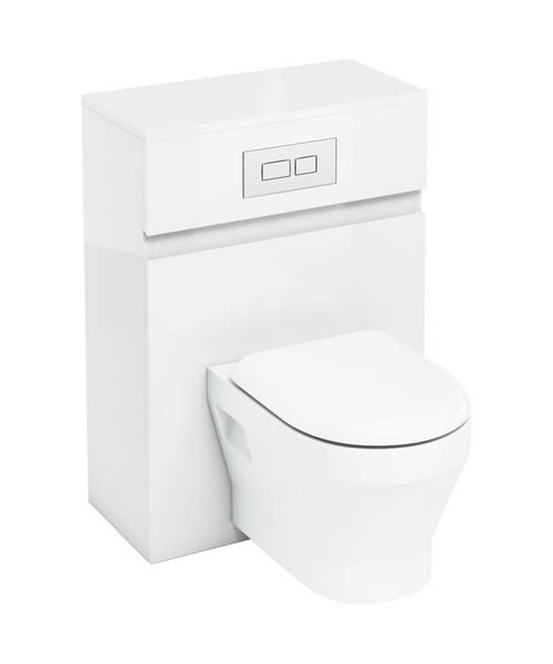 aqua cabinets d300 white 600mm wall hung wc unit with. Black Bedroom Furniture Sets. Home Design Ideas