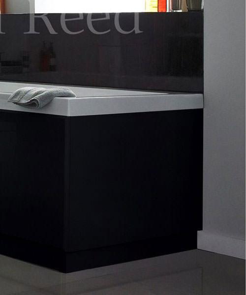 Hudson Reed Black 1700mm Front Bath Panel