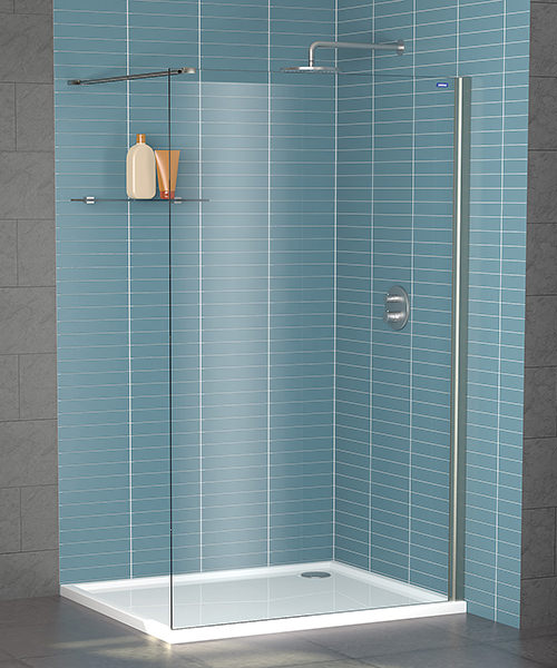 Showerlux Legacy 8mm Clear Glass Wetroom Panel 1200mm