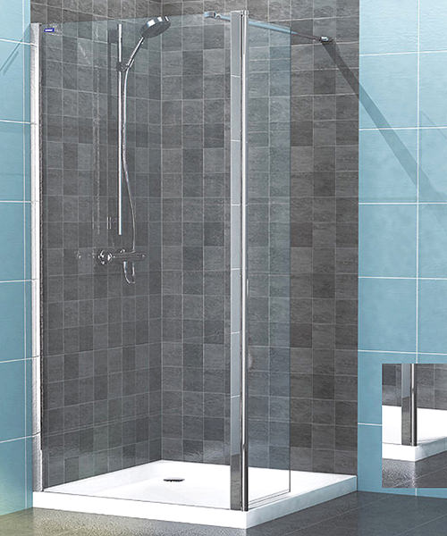 Showerlux Legacy 8mm Clear Glass Hinged Wetroom Panel 1200mm