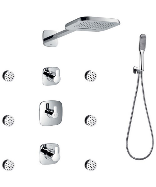 Flova Urban Concealed Thermostatic Shower Set With Body Jets