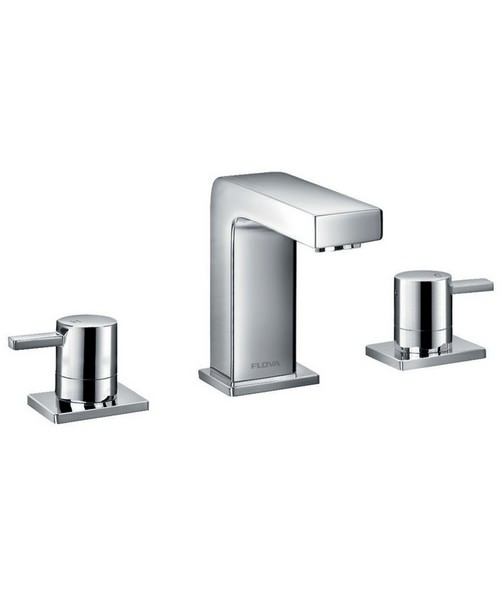 Flova Str8 Deck Mounted 3 Hole Bath Filler Mixer Tap