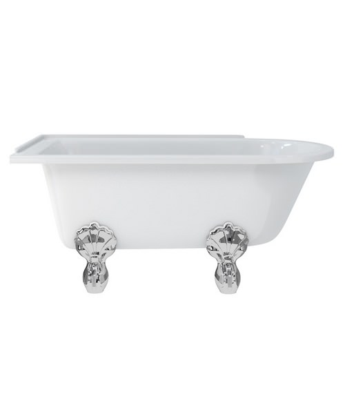 Burlington Hampton Left Handed Roll Top Shower Bath - L 1500 x W 750mm