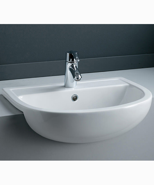 RAK Compact Semi Recessed Basin - W 550 x D 415mm