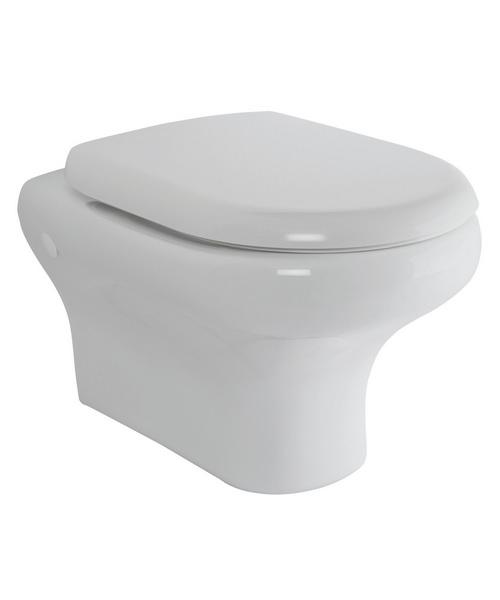 RAK Compact Wall Hung Toilet Pan With Urea Soft Close Seat