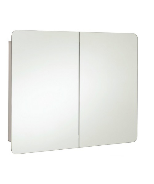 RAK Duo Stainless Steel Double Door 800 x 660mm Mirror Storage
