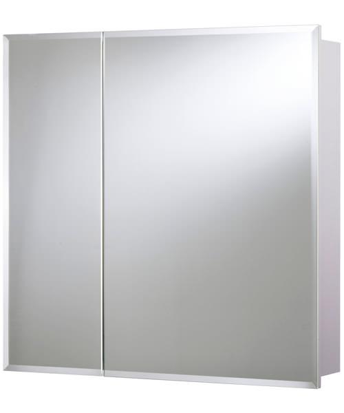 Croydex Wellington Double Door Bi-View White Steel Cabinet