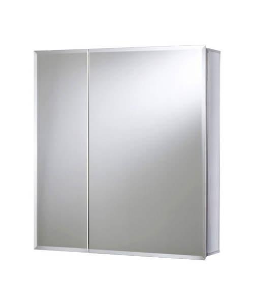Croydex Shawdon Double Door Bi-View White Steel 762 x 762mm Unit
