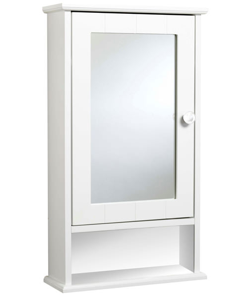 Croydex Langham Single Door Mirror Cabinet