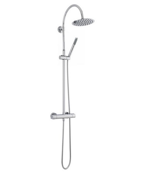 Hudson Reed Porto Thermostatic Bar Valve And Kit With Round Shower Head