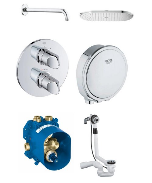 Grohe Veris Bath And Shower Shower Solution Pack 3