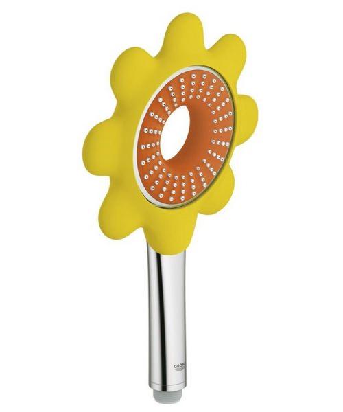 grohe rainshower icon 100 hand shower orange. Black Bedroom Furniture Sets. Home Design Ideas